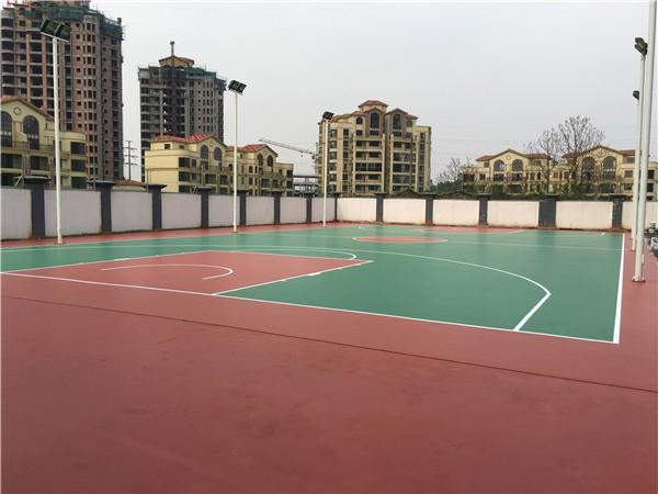 吉州區武裝部硅PU籃球場