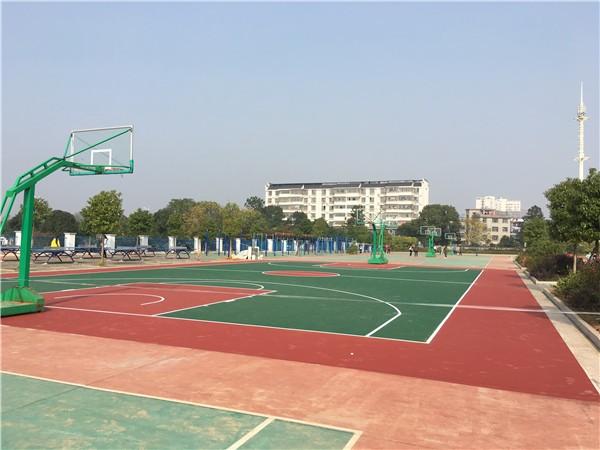 青原區思源學校丙烯酸籃球場