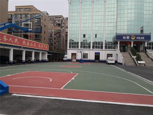 泰和縣澄江鎮派出所丙烯酸籃球場